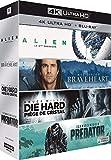 4K Cultes : Alien + Braveheart + Piège de cristal + Predator [Francia] [Blu-ray]