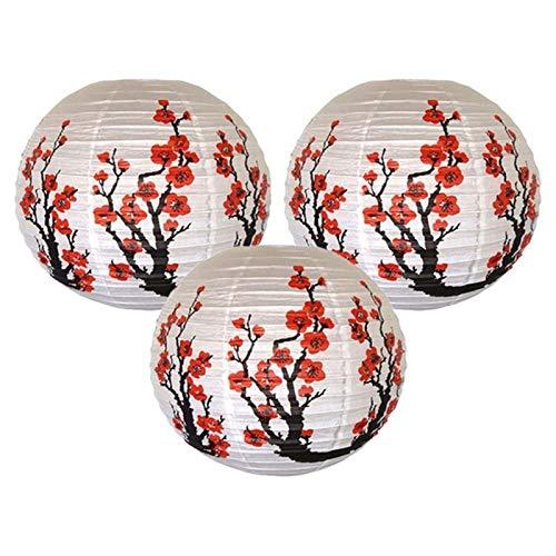 BDZC Accesorios Brillante como Nuevo Conjunto de 3 Rojo Sakura (Cherry) Papel...