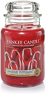 Yankee Candle Cranberry Peppermint Large Jar Candle, Fruit Scent