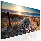 decomonkey Bilder Strand Sonnenuntergang 120x40 cm 1 Teilig