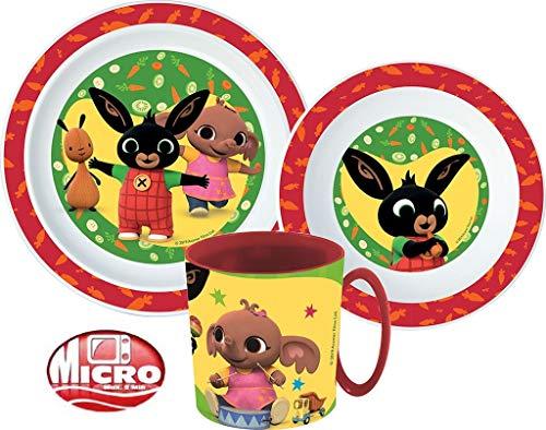 Bing Kinder-Geschirr Set mit Teller, Müslischale und Tasse