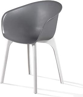 デザインチェアー FLOW ディーバ チェアー グレー (プラスチック 軽量 屋外 室内 イス インテリア チェアー 木目 イタリア家具 DIVA)