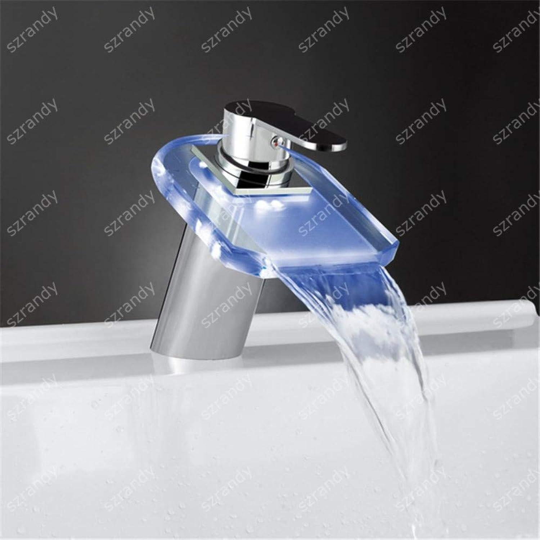 ROKTONG Bath & Shower Systems Bath & Shower Systems Bath & Shower Systems,Single Handle Single Hole Washbasin Faucet Led Light Faucet