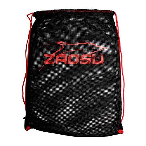 ZAOSU Training Mesh-Bag Essential | Equipment Beutel für Schwimmer und Triathleten, Farbe:schwarz