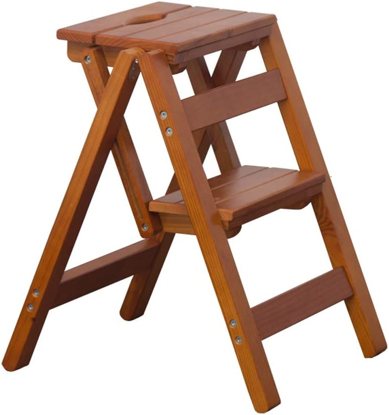 Multifunctional Easy-to-use Household Folding Wooden Library Excellence Ladder C