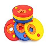 Zcoins Manguitos flotantes infantiles para aprender a nadar, incluye 6 discos, Infantil, Mixed 3 Colors