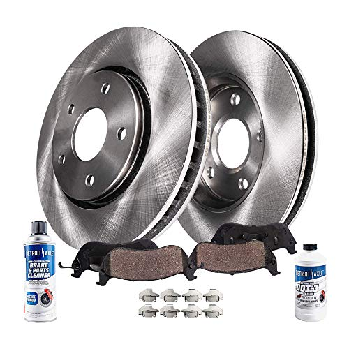 Detroit Axle - Front 280mm Disc Brake Kit Rotors w/Ceramic Pads w/Hardware & Brake Kit for 2011-2016 Hyundai Elantra & Coupe/GT - [2012-2015 Veloster] - 2014-2016 Kia Forte Forte5 Koup