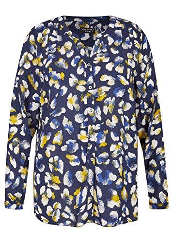 Via Appia Due Damen Schmeichelnde Viskose-Bluse mit Allover-Muster