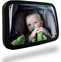 Durapower Baby Car Mirror, Safety Car Seat Mirror for Rear Facing Infant with Wide Acrylic Clear View, Shatterproof, Fully Assembled