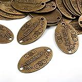 100 botones de metal hechos a mano etiqueta colgante para DIY artesanía joyas...