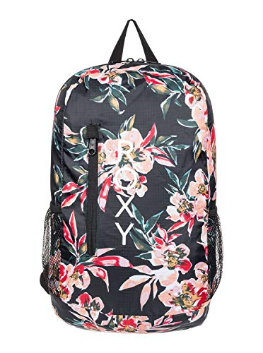 Roxy Womens Fresh AIR Packable Backpack, Anthracite Wonder Garden S, Medium (25x38x12cm)