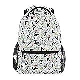 LNLN Alfabeto con Luces en Blanco Mochilas College School Book Bag Viajes Senderismo Camping Daypack