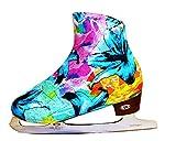 Ice Skate Boot Covers (Aqua Garden)