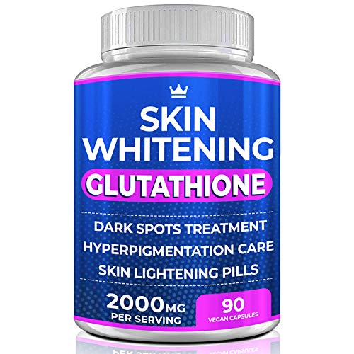 Glutathione Whitening Pills - 90 Capsules 2000mg Glutathione - Effective Skin Lightening Supplement - Dark Spots, Melasma & Acne Scar Remover, Hyperpigmentation Treatment - Anti-Aging Antioxidant