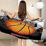 QFMMQI Gigante Microfibra Toalla Playa Hombre Mujer Toallas Playa Secado Rápido Baloncesto Toalla Baño Personalizada paraTomar el Sol de Verano Paño para Playa Unisex (70 * 150 cm)