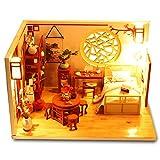 Kuizhiren1 DIY Puppenhaus Holz Miniatur Möbel Kit,Miniatur Chinesische Terrasse Puppenhaus Möbel...
