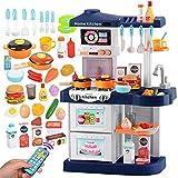 Dirgee Rollenspiel Spielzeug Gourmet Küche Durable Kinder Küche Spielzeug mit Klang Plastik Spiel Küche Kinder Pädagogische Spielzeug (Farbe: Rosa, Größe: Höhe 72 cm)
