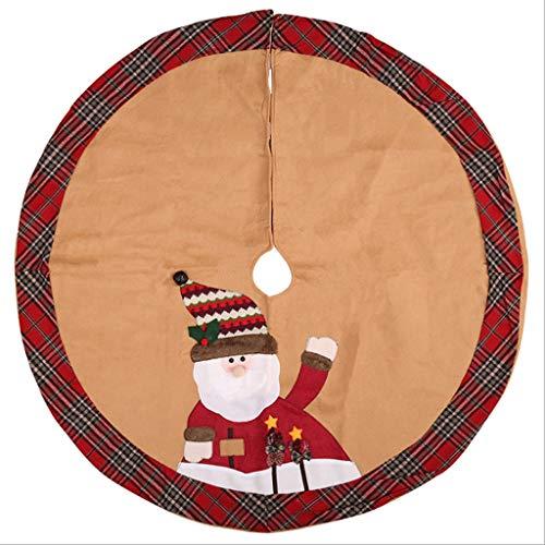 Decoración Temporada Falda para Árbol de Navidad Falda del árbol de Navidad de la Tela de Alto Grado, Fuentes de la Navidad, diámetro 105CM Falda para Árbol de Navidad (Color : A)