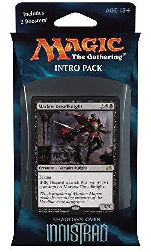 Magic the Gathering: MTG Shadows over Innistrad: Intro Pack / Theme Deck: Vampiric Thirst (includes 2 Booster Packs & Alternate Art Premium Rare Promo) Black / Red - Markov Dreadknight