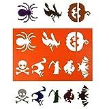 SUPVOX 2PCS A4 Halloween Painting Stencils Templates Witch Pumpkin Spider Drawing Templates Stencils for DIY Photo Album Scrapbook (Orange)