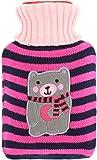 com-four Bouillotte au Design craquant - Coussin Chauffant avec Couverture tricotée et col roulé - Bouillotte pour Enfants et...