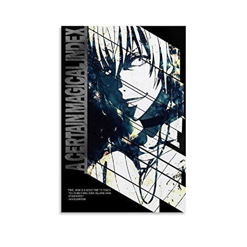 DFHRE Toaru Majutsu No Index Poster estetico 60 x 90 cm