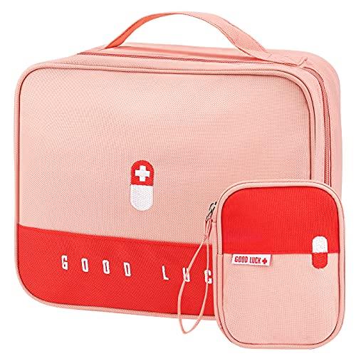 2stk Notfalltasche Leer wasserdichte,Medikament Tasche,Reiseapotheke Tasche,Mini Erste-Hilfe-Tasche,Medizinisch Tasche Klein Wasserdicht Tragbar,Tragbar...
