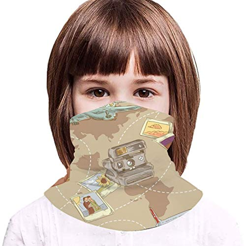 Children Face Protective Towel Cover With 2 Filter Colored Travel Paper 3d Printed Sunproof Breathable Balaclava For Outdoor Or Daily Use