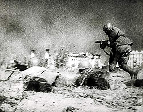 Fotodruck Deutscher Soldaten kämpfen in der Schlacht von Stalingrad (30x24)