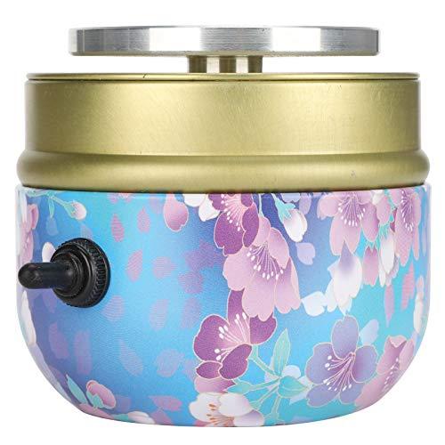 Máquina de cerámica, máquina de rueda de cerámica de plato giratorio de aluminio eléctrico, patrón de flores(European regulations)