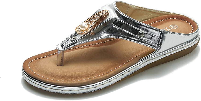 Damen Slipper Party Ladies schuhe Casual Rhinestone Schuhe