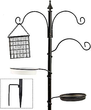 "yosager Premium Bird Feeding Station Kit, 72"" x 21"" Bird Feeder Pole, A Multi Feeder Hanging Kit with Metal Suet and Bird Bat"