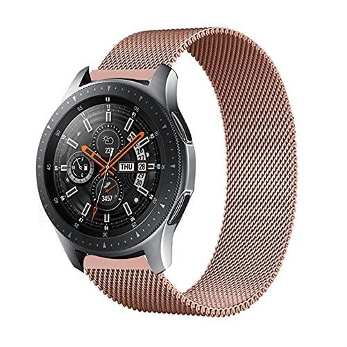 LLMXFC Correa magnética de 20 mm/22 mm para Samsung Galaxy Watch 3, 45 mm, 41 mm/Active 2 46 mm/42 mm Gear S3 pulsera Huawei GT/2/2e (Color de la correa: oro rosa 13, tamaño: Active2 40 mm 44 mm)