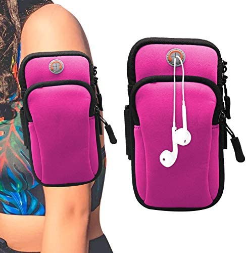 7 7 Inch Universal Running Armband Sports Armbag for Samsung Galaxy Note20 Ultra 5G A51 A71 product image