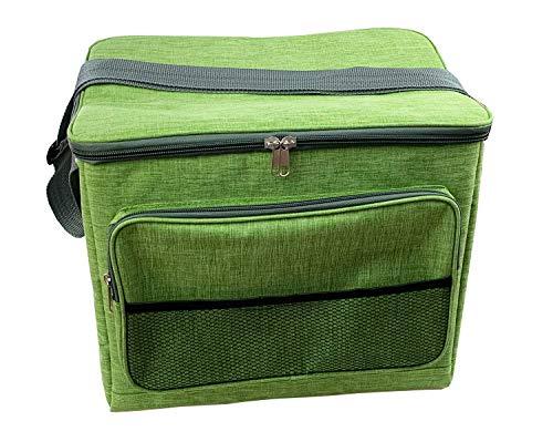 Idena 30194 - Nevera portátil con 24 litros de Capacidad, Aprox. 34 x 24 x 30 cm, con Correa para el Hombro, Bolsillo Delantero y Cremallera, Ideal para Picnic, Vacaciones y Camping