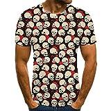 SSBZYES Camiseta para Hombre Camiseta De Manga Corta De Gran Tamaño para Hombre Camiseta con Cuello Redondo para Hombre Camiseta De Moda para Hombre Camiseta con Estampado Geométrico Creativo En