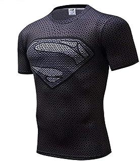 3D DC Series T-shirt Superman Men's Short Sleeve Tights Sports Jersey Prints Skinny Sports Fashion Bodybuilding T-Shirt