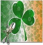 The VunKo - Set di tovagliette riutilizzabili con quadrifoglio, 6 marzo 17 irlandesi, perfette per l'uso quotidiano, antiscivolo, per tavolo da pranzo, cucina, decorazione per la casa