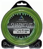 Sharkcut - Hilo profesional de aluminio, hilo de nailon, redondo, 2,7 mm, diferentes longitudes