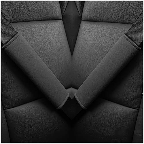 GAOJIAN Protector de Hombro para cinturón de Seguridad Alargamiento de la Personalidad Almohadillas Cinturon Coche,Sensación Suave de la Mano, Fuerte Permeabilidad al Aire Seat Belt Pads Black