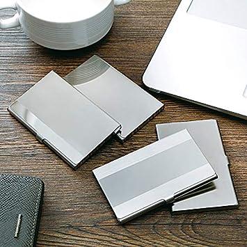 ruiruiNIE Pocket Edelstahl /& Metall Visitenkartenetui Fall ID Credit Wallet Silber