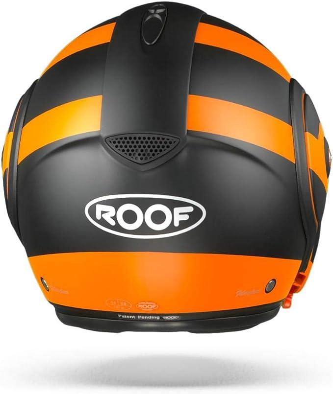 Roof Boxxer Fuzo Klapphelm Schwarz Orange S 56 Auto