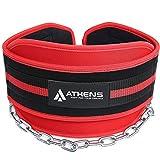 Athens Ceinture de musculation pour haltérophilie et traction avec chaîne longue de 34 pouces – Idéal pour les hommes et les femmes