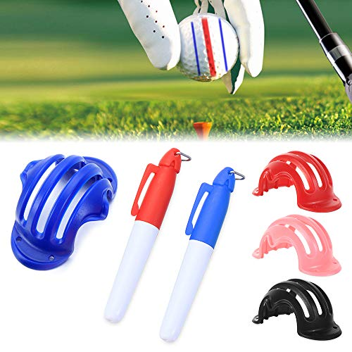 Heyzen Visualize Tri-Line Golf Alignment Kit, Pelota de Golf Triple Track 3 Line Marker Stencil ERC Chrome Soft Odyssey (4...