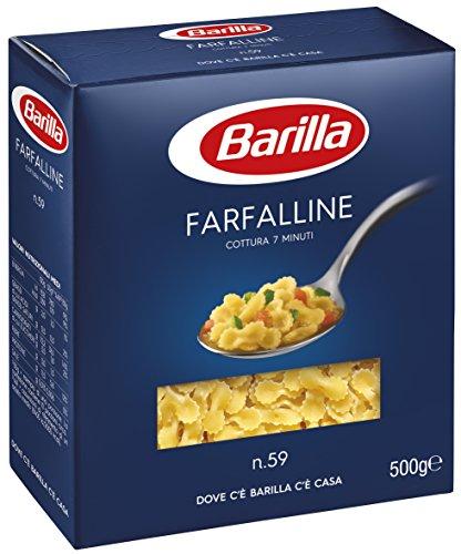 Barilla Pasta Farfalline N.59, Pastina di Semola di Grano Duro, I Classici, 500g