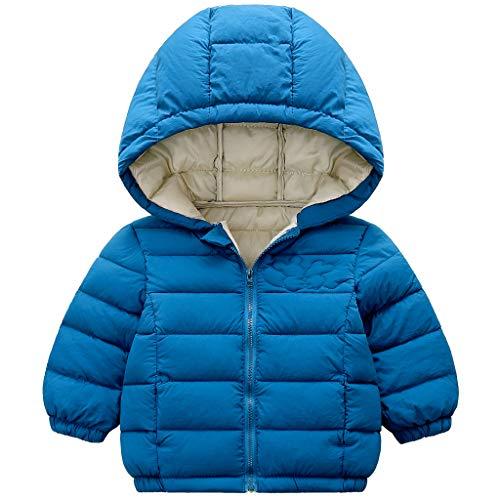 Minizone Bambino Giacche con Cappuccio Inverno Cappotto Leggero Giubbotti con Cerniera 18-24 Mesi