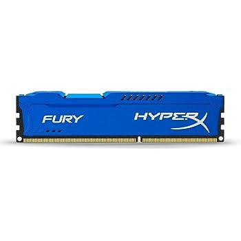 HyperX HX316C10F/4 Fury 4 GB, 1600 MHz, DDR3, CL10, UDIMM, 1.35V, Blu
