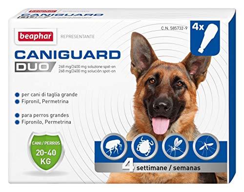 Beaphar Caniguard Duo Antiparassitario per Cani da 20 a 40 kg- 4 Pipette, L