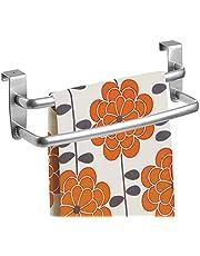 mDesign - Theedoekenrek - handdoekenrek/handdoekenrail - deurbevestiging/zonder boren - ideaal voor keukens en badkamers