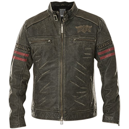 Affliction Lederjacke Born to Race Schwarz, S